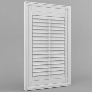 plantation shutter 3d 3ds