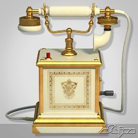 retro telephone 3d model