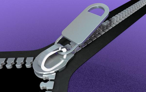 3d clothing zipper
