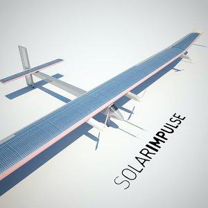 3d model of solar impulse