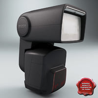 3d model speedlite modelled