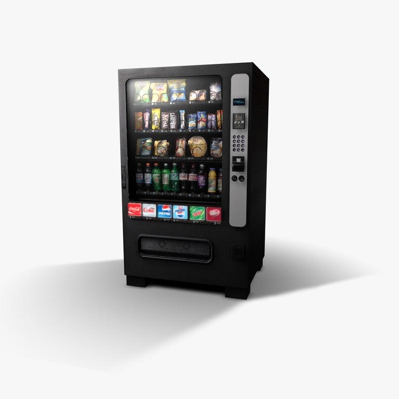 vending machine 3d c4d