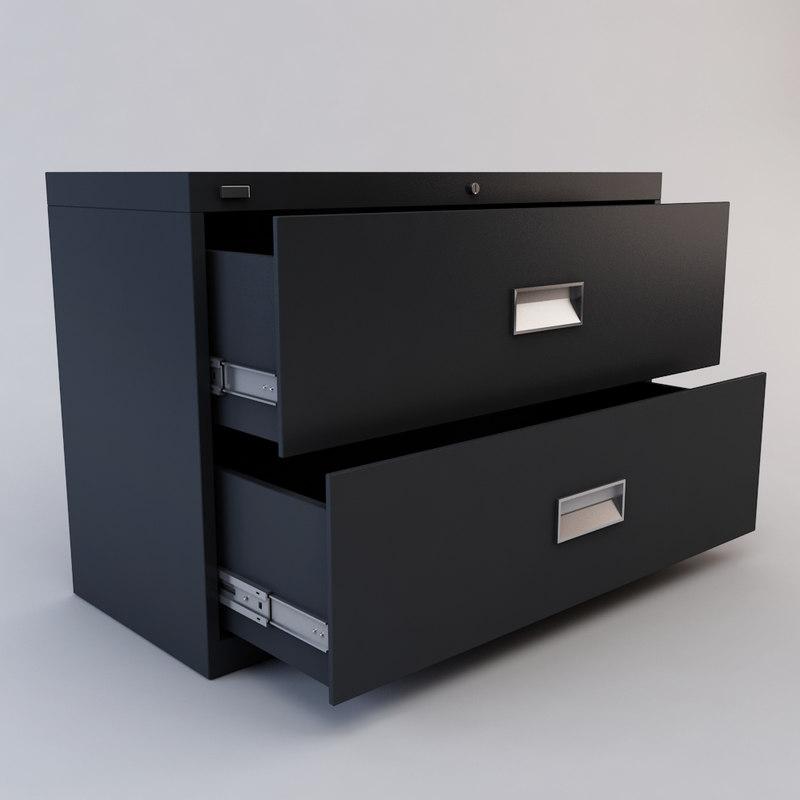3d drawer file cabinet model
