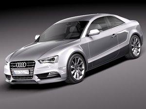 3d model audi a5 2012 coupe