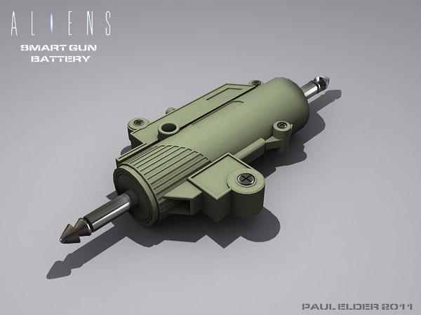 free colonial smartgun battery 3d model