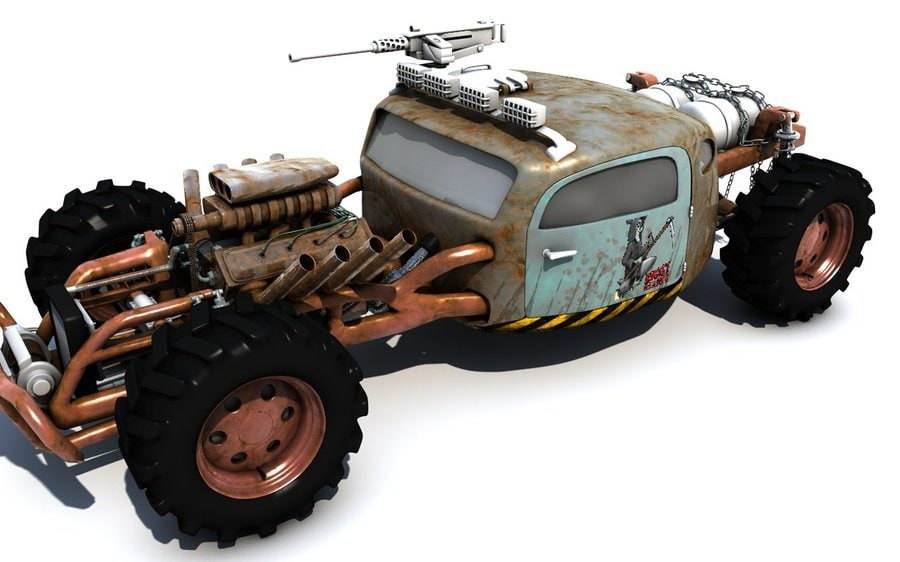 buggy mad 3d model