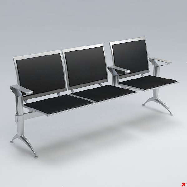 3d airport chair