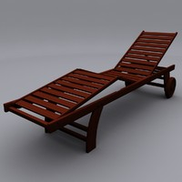 realistic chaise lounge chair 3d max