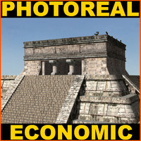 3ds max el castillo mayan temple