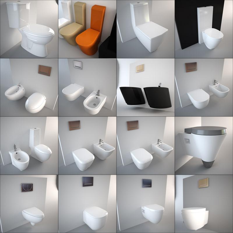 toilet design bidet 3d model