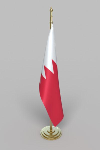 flag bahrain 3d max