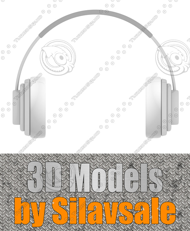 plastic headphones 3d model