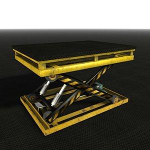 3d table lift model