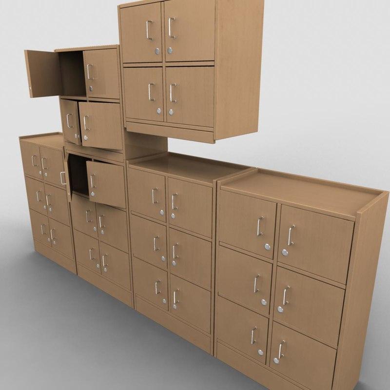 lockers lock 3d model