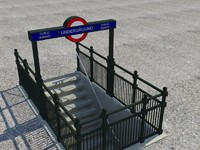 underground entrance london 3d 3ds