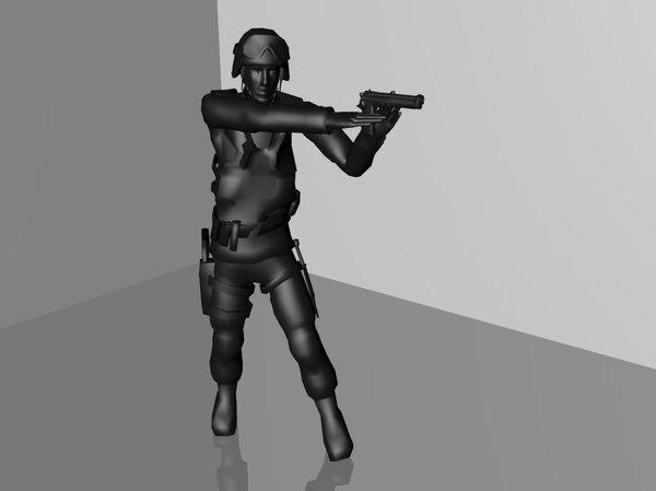 3d taking weapon model