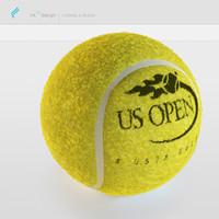 tennis ball 3d obj