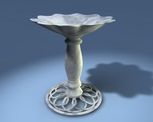 3ds bird bath