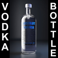absolut vodka 3d model
