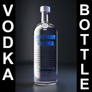 absolut vodka 3d model