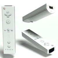 3d model wii remote controller