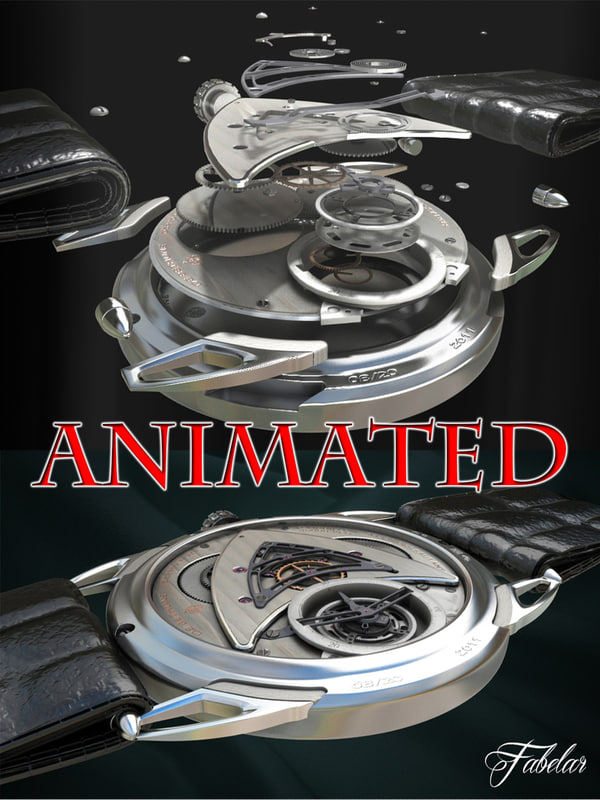 watch wristwatch animation 3d model