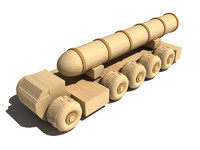 Wooden military balistic rocket launcher