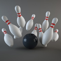 Bowling Ball & Pins