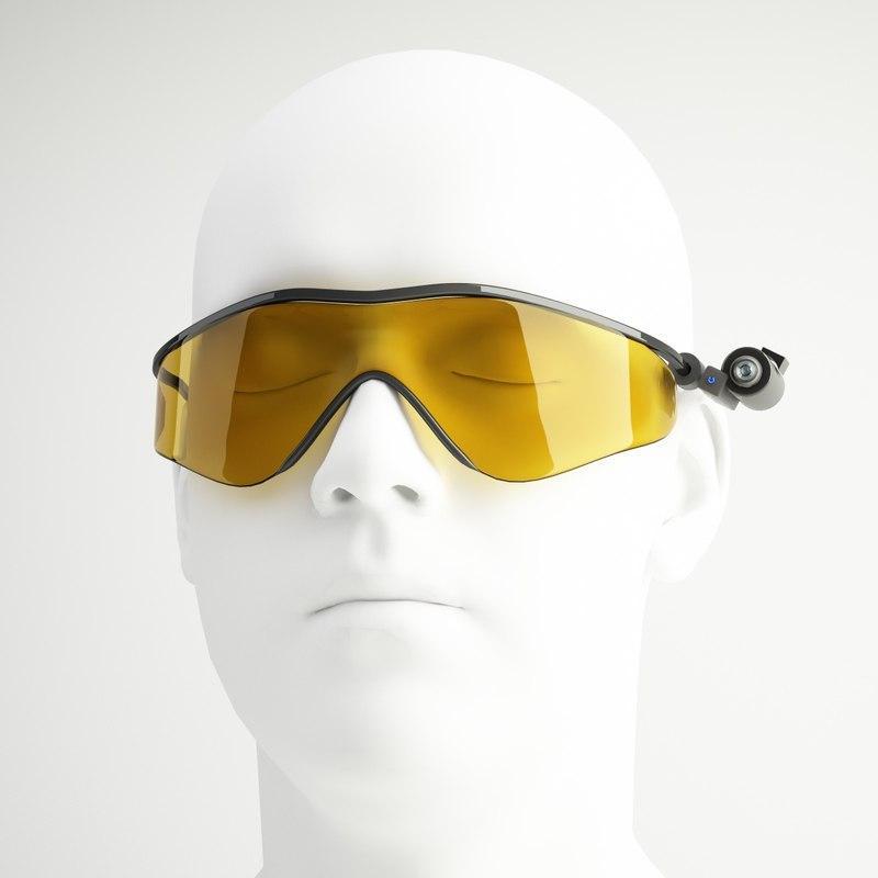 swat tactical glasses 3d model