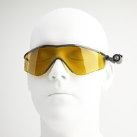 swat tactical glasses 3d model