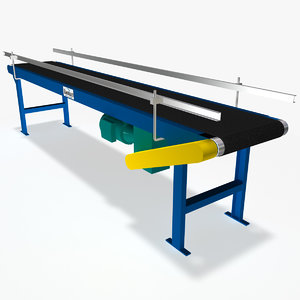 3d slider bed belt conveyor