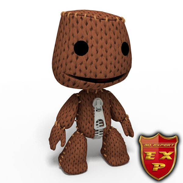 3d model sackboy sack boy
