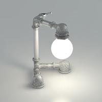 3d model table-lamp david benatan