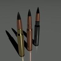 3d model cartridges 7 92 mm