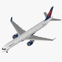 airliner boeing 757-300 delta 3d max