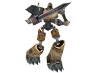 3d golem iron earth model