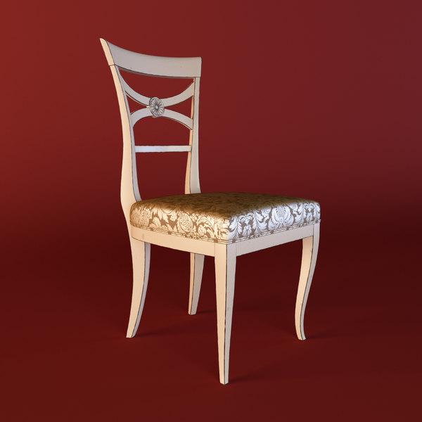 dining chair dolfi 3d model