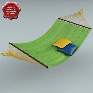 3d model hammock green