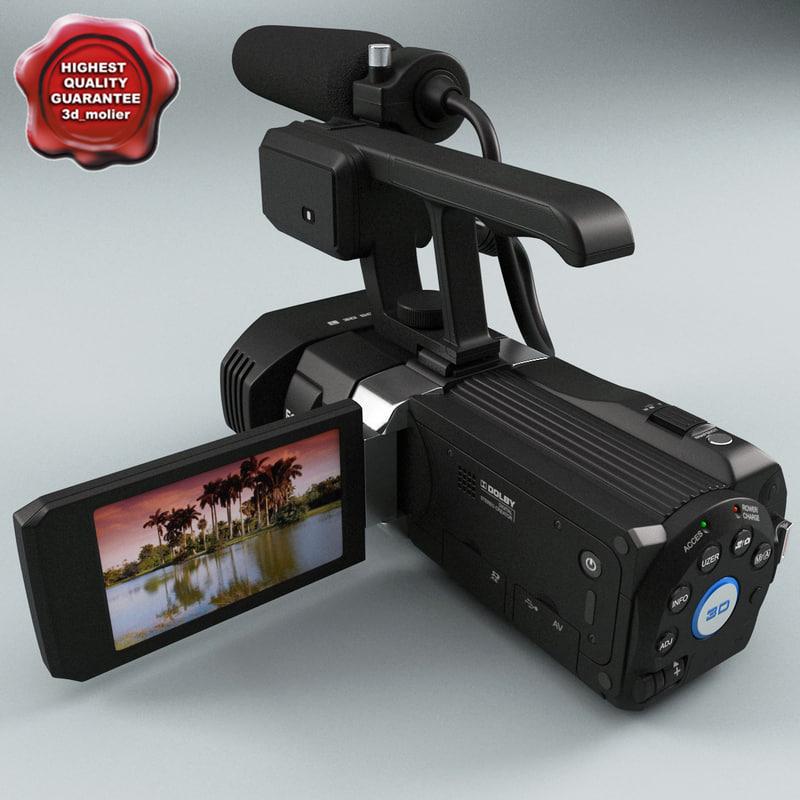 3d jvc gz-td1 hd camcorder