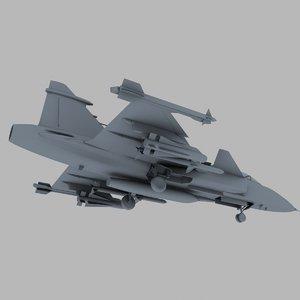 3d max jas-39 greephen jet