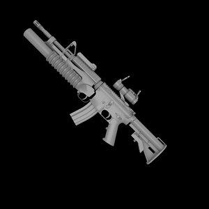 m4a1 m2 m203 grenade launcher 3ds