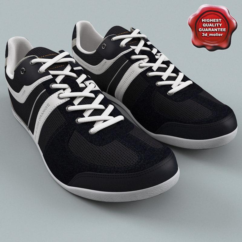 mens sneakers boss orange 3d model