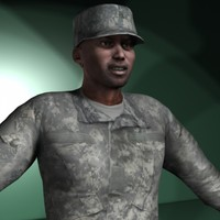 Military Rigged Character Collection Men #2