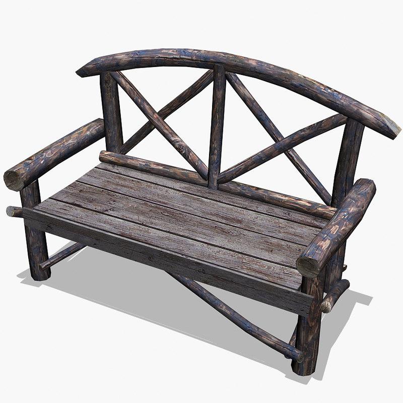 free 3ds mode landscape park bench natural