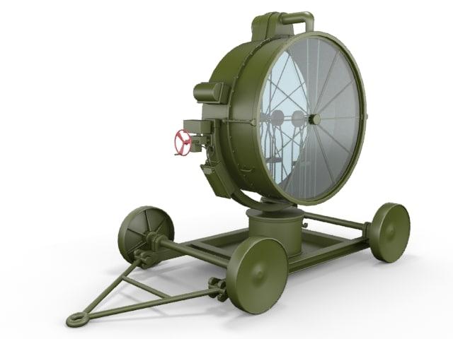 searchlight light 3d model