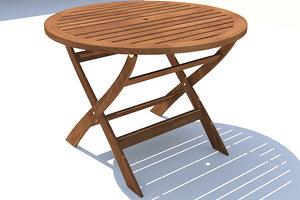 folding garden table 3d x