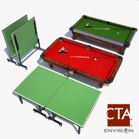 3d ping pong table pool model