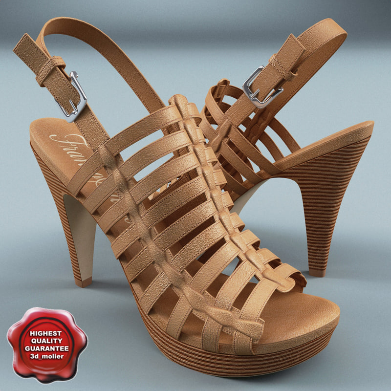 womens sandal franco sarto 3d model