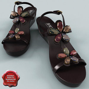 womens sandal jb martin 3d model