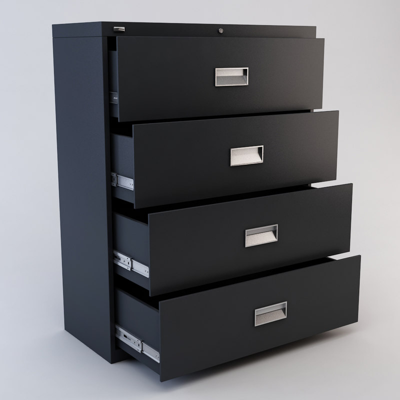 drawer file cabinet 3d model